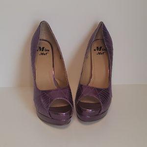 Miss Me Purple High Heels